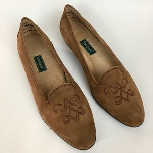 Rockport Suede Tan Flats size 7W